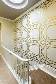contempo trellis wall stencil metallic gold paint oriental