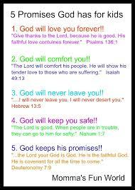 momma u0027s fun world teaching the promises of god to kids sunday