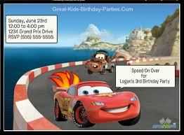 cars invitations