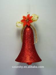large lighted handmade christmas bells and blue ribbons buy