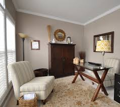 Home Office Color Schemes Perfect Greige Note The Mix Between Warm Browns And Cool Greys In