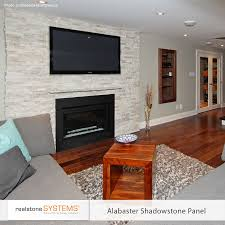 image result for white stone veneer fireplace home reno ideas