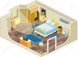 furniture and objects generally used in a bedroom royalty free