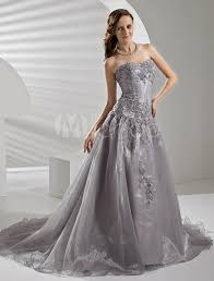 silver wedding dresses court silver organza wedding dress with a line sweetheart