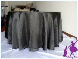 Wedding Linens For Sale Sale 10pcs Black Satin Round Tablecloth For Wedding Party In