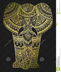 stylized of an elephant ornamental portrait of an elephant