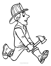 fire safety fireman coloring pages preschool womanmate