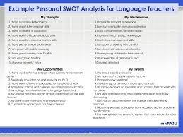 swot for language teachers