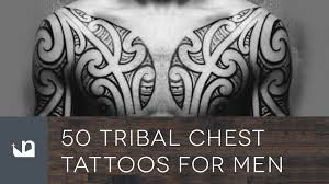 50 tribal chest tattoos for