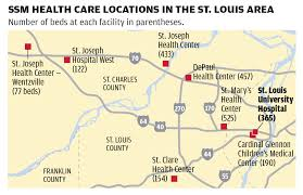 Stl Metro Map by Ssm Looks To St Louis University Hospital To Boost Brand Power