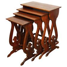 modern nest of tables uk antique and vintage nesting tables and stacking tables 967 for