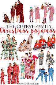 family christmas pajamas cute matching pajamas by lauren m