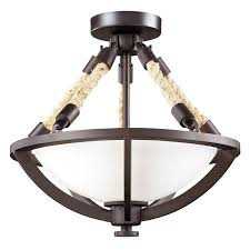 Nautical Ceiling Light Boathouse Nautical Rope Semi Flush Ceiling Light Shades Of Light
