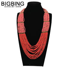 long red necklace images Bigbing fashion jewelry long red beads layered necklace chains jpg