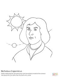 nicolaus copernicus coloring page free printable coloring pages