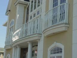 exteriors awesome light grey wrought iron balcony railing grey