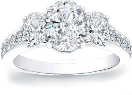 oval shaped engagement rings three oval diamond engagement ring w pave accents scs1226b