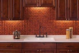 Pleasant Copper Backsplash Concept About Home Interior Design - Copper backsplash