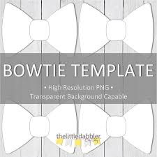 printable bowtie template high resolution png by thelittledabbler