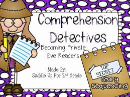reading comprehension detectives story sequencing saddle up for