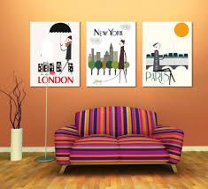 Livingroom Paintings Online Get Cheap Paris Canvas Paintings Aliexpress Com Alibaba