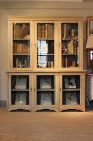 Oak Glazed Display Cabinet Circa 1900 1920s Bleached Oak Glazed Bookcase Display Cabinet