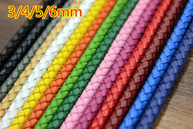 colored necklace cords images 4mm braid genuine round leather cord 18 color cowhide leather diy jpg