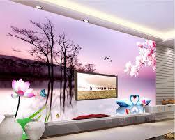 custom mural photo 3d room wallpaper swan lake scenery picture