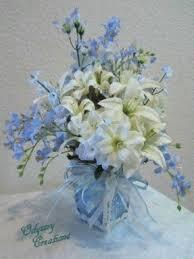 white and blue floral arrangements silk floral arrangements centerpieces foter