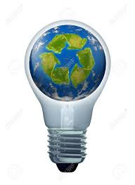 green solutions and energy saving ideas symbol represented by
