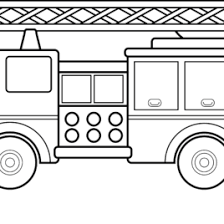 fire truck coloring toddlers archives mente beta
