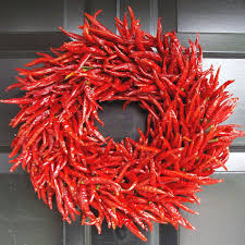 Chili Pepper Christmas Ornaments - organic red chili pepper wreath the green head