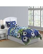Soccer Comforter Amazing Deal Soccer League 4 Piece Full Comforter Set In Blue
