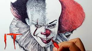 pennywise the clown 2017 vs 1990 drawing youtube