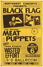 Black Flag Wasted Hake U0027s Three Black Flag Concert Posters From Eugene Oregon Shows