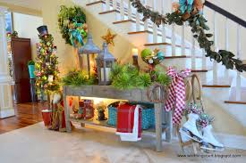 How To Decorate A Foyer In A Home by Christmas Tour At Nancy U0027s Worthing Court