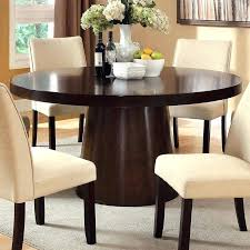 round dining table for 6 with leaf 6 person round table thefarmersfeast me