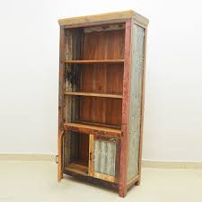 Recycled Timber Bookshelf Nirvana Reclaimed Timber Library Bookcase Display Cabinet Bookshelf