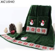 christmas towels xc ushio 100 cotton christmas snowman towel set gift for child
