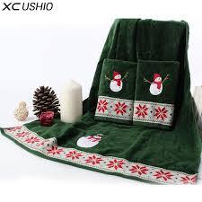 christmas towels xc ushio 100 cotton christmas snowman towel set gift for child