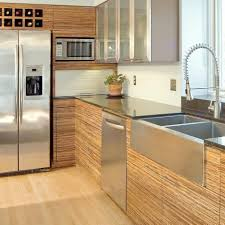 cabinet bamboo cabinets kitchen the clean lines and modern look