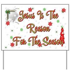 jesus is the reason for the season yard sign by aandacreations