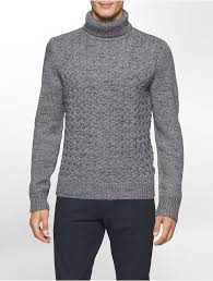 mens turtleneck sweater calvin klein s wool cable knit turtleneck sweater indeed