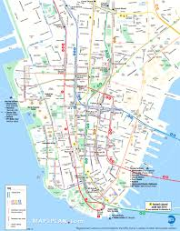 detailed map of new york lower manhattan key map new york showy tourist of nyc creatop me