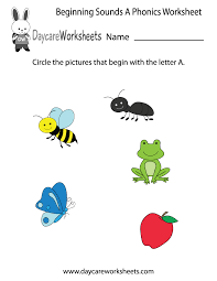 preschool phonics worksheets