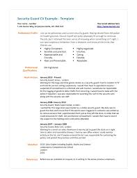 security job resume samples free resume example and writing download