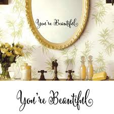popular quote sticker walls buy cheap quote sticker walls lots you are beautiful wall sticker diy art words quote wall stickers home decor living room wall