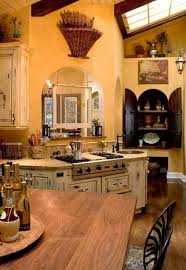 small tuscan kitchen design with wooden table country life