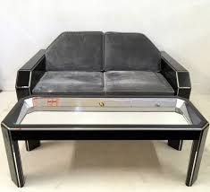 Lucite Bench For Sale Vintage American Lucite U0026 Velvet Sofa With Coffee Table For Sale