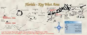 florida shipwrecks map atocha certificate of authenticity treasure map and wreck